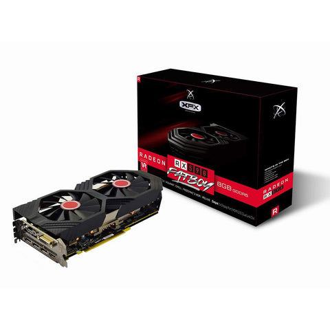 XFX Radeon RX 590 Fatboy DirectX 12 RX-590P8DFD6 8GB 256-Bit DDR5 PCI Express 30 CrossFireX Support Video Card
