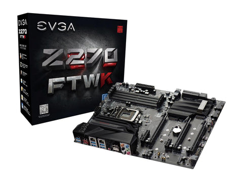 EVGA Z270 FTW K, 132-KS-E277-KR, LGA 1151, Z270, HDMI, SATA 6Gb/s, USB 3.1, USB 3.0, ATX Motherboard