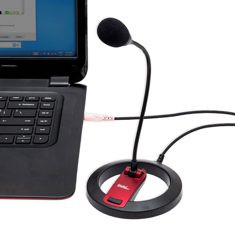 Image of Syba Goose Neck Desktop Tabletop Stereo Computer Microphone