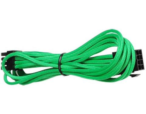 BattleBorn 8-Pin EPS Green 45cm Braided Sleeve Extension Cable