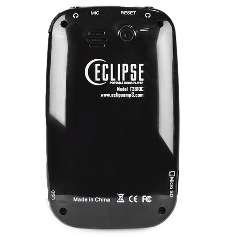 Eclipse T2810C 4GB MP3 USB 2.0 Touchscreen Digital Music/Video Player & Voice Recorder w/Camera & 2.8 LCD (Black)