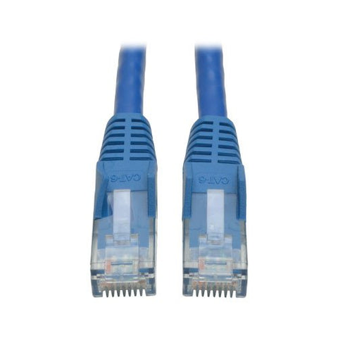 Image of Tripp Lite 30 Foot Cat6 Gigabit Snagless Molded Patch Cable RJ45 M/M Blue 30' N201-030-BL