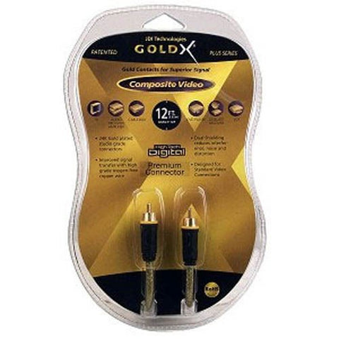 Image of GoldX 12 Foot PlusSeries M/M RCA Composite Video Cable (GXAV-Y-12P B23)
