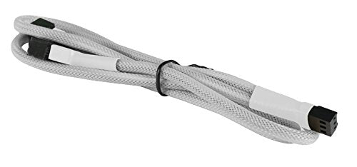 "BattleBorn White Braided 3-Pin Fan ""Y"" Splitter Cable"