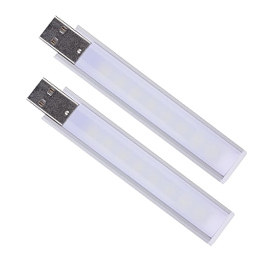 BattleBorn USB Powered LED Light Lamp - 8 LEDs - White - 2-Pack