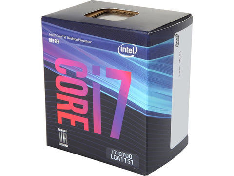 Image of Intel BX80684I78700 Core i7-8700 Coffee Lake 6-Core 3.2 GHz LGA1151 Processor - Retail