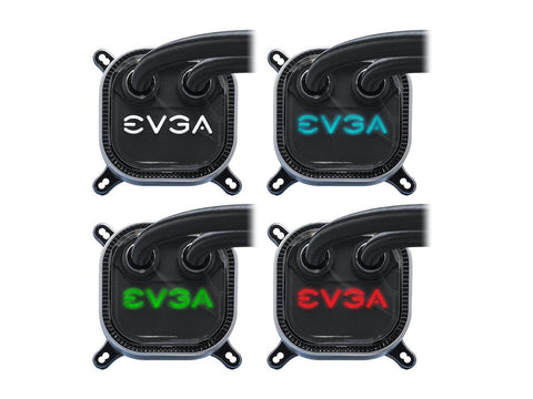 EVGA CLC 240 Liquid/Water CPU Cooler 400-HY-CL24-V1, 240mm Radiator, RGB LED with EVGA Flow Control