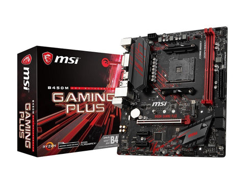 Image of MSI B450M GAMING PLUS AM4 AMD B450 SATA 6Gbs USB 3.1 HDMI Micro ATX AMD Motherboard