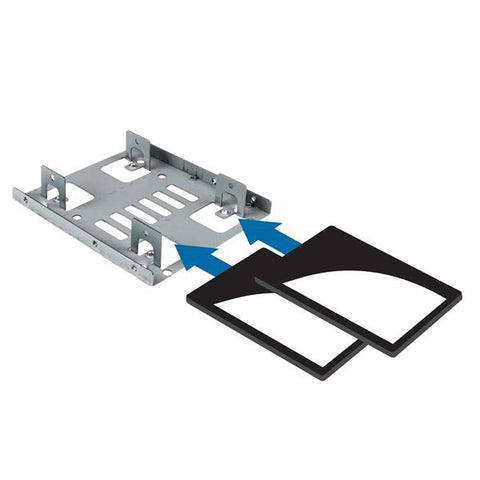StarTech Dual 2.5 to 3.5 HDD Bracket for SATA Hard Drives - 2 Drive 2.5 to 3.5 Bracket for Mounting Bay 2 x HDD Supported