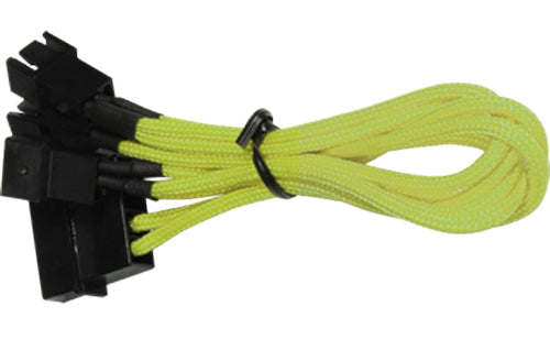BattleBorn 4-Pin Molex to 3x3 Pin Yellow Braided Cable