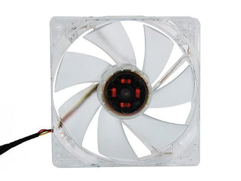 Rosewill RFX-120BL - 120mm Computer Case Cooling Fan - Transparent Frame with Blue LED Lights PWM