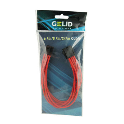 GeLid CA-8P-04 30cm Red Sleeved 8-pin EPS Cable