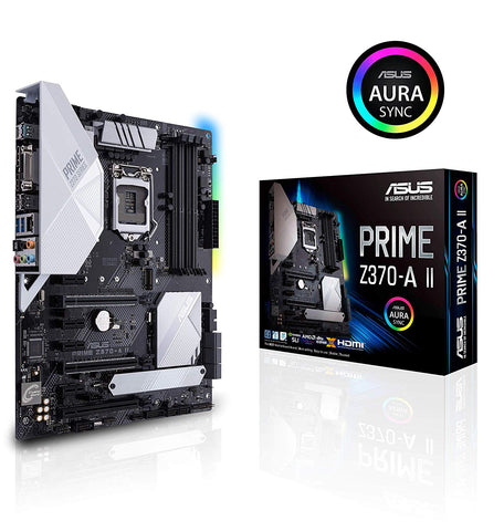 Image of ASUS PRIME Z370-A II LGA 1151 (300 Series) Intel Z370 HDMI SATA 6Gb/s USB 3.1 ATX Intel Motherboard