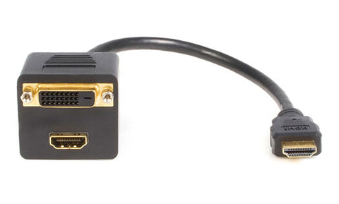 Image of StarTech HDMISPL1DH HDMI to HDMI and DVI Splitter Cable