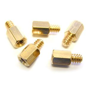 Image of StarTech 50 Pack #6-32 to M3 PC Mounting Metal Jack Screw Standoffs