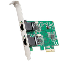 Syba SD-PEX24041 Realtek RTL8111 2-port Ethernet PCIe x1 Card