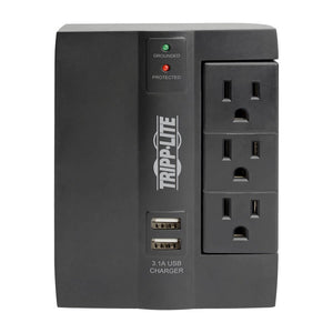 Tripp Lite 6 Outlet 2 USB Direct Plug-in Surge Protector SWIVEL6USB