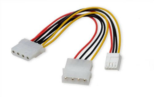 "Syba 5"" 4-Pin Molex to 4-Pin Molex & Floppy Power Adapter"