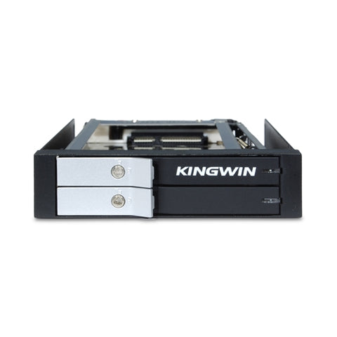 "Kingwin KF-251-BK 3.5"" Bay Dual 2.5"" Internal Tray-less Mobile Rack"