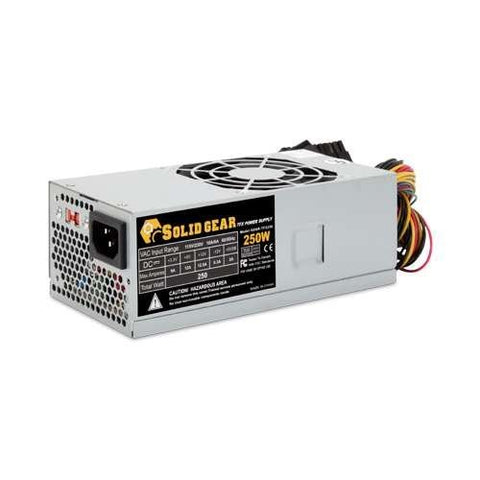 Solid Gear Quiet 250W TFX Power Supply with 80mm Fan