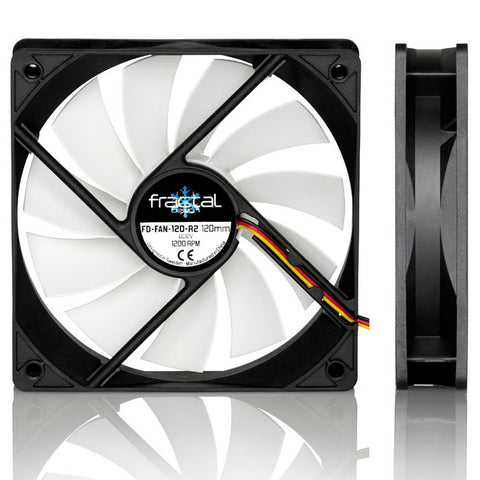 Fractal Design Silent Series R2 120mm 3-Pin Case Fan (Black)