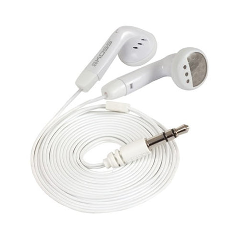 Image of Koss KE5W 4 Foot White Stereo Earbuds