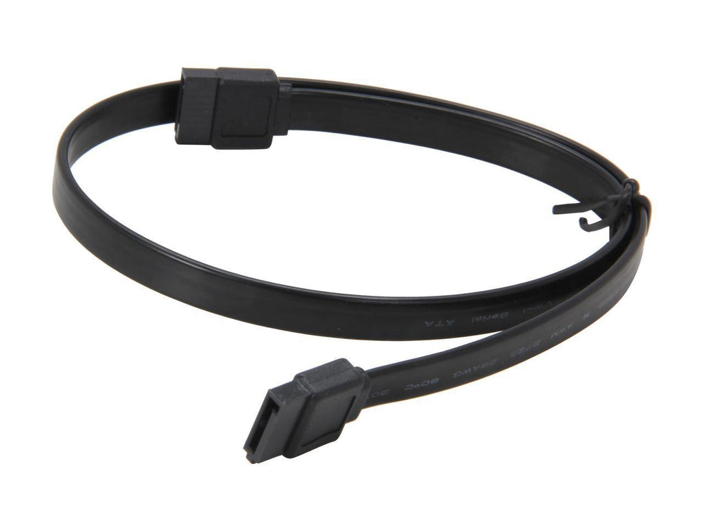 "Coboc Model SC-SATA3-18-LL-BK 18"" SATA III 6Gb/s Data Cable w/Latch Black"