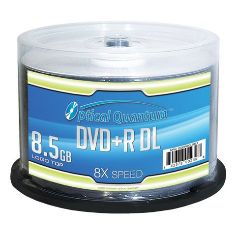 Image of Optical Quantum OQDPRDL08LT 8.5GB 8X DVD+R DL 50 Pack Spindle Logo