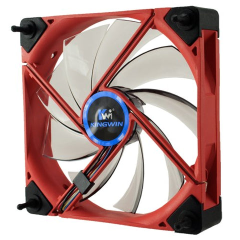 Kingwin DB-122 Duro Bearing 120mm Red Frame / White LED Case Fan