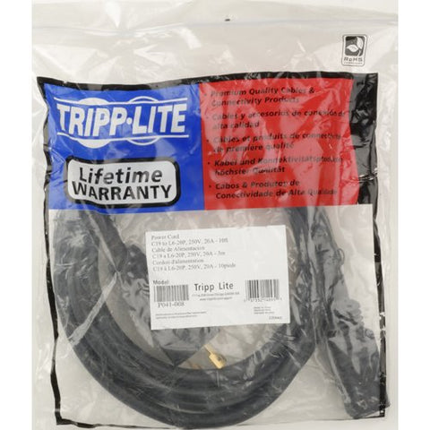 Tripp Lite 8ft Power Cord 10AWG (L6-30P to L630-R) P041-008