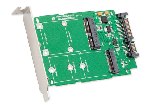 Image of Syba SI-ADA50067 LP Ready M.2 (NGFF) & mSATA SSD to SATA III Card