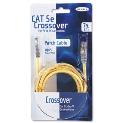 Belkin A3X12607YLWM 7 ft Male Crossover Cat5e Network Cable (Yellow)