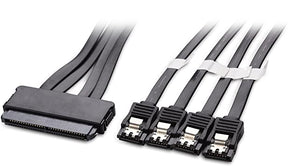 BattleBorn Internal SAS to 4X SATA Forward Breakout Cable 1.5 Feet