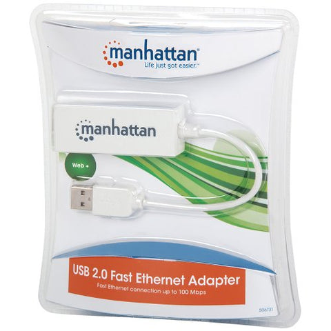 Image of Manhattan 506731 USB 2.0 10/100Mbps Fast Ethernet Adapter