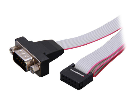 Image of StarTech PNL9M16 16in 9 Pin Serial Male to 10 Pin Motherboard Header Panel Mount Cable