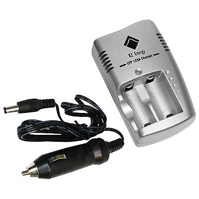 K2 Energy CR123A Size Dual Battery Charger