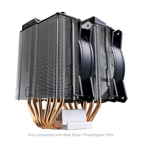 Image of Cooler Master MA621P TR4 Twin Tower RGB CPU Air Cooler 6 CDC Heat Pipes 2 RGB MasterFan for AMD TR4 Only Cooling (MAP-D6PN-218PC-R2)