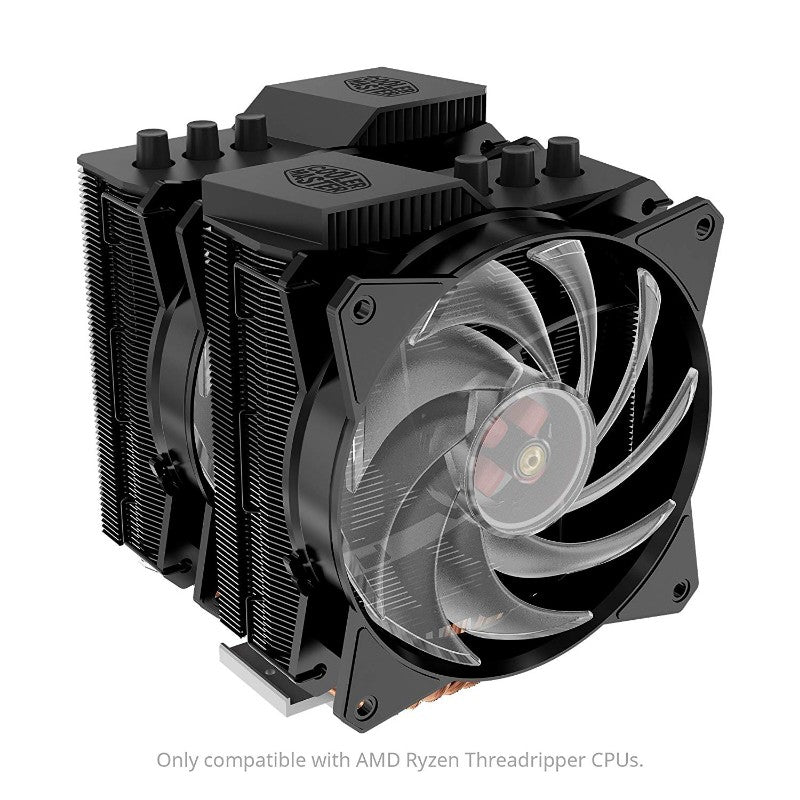 Cooler Master MA621P TR4 Twin Tower RGB CPU Air Cooler 6 CDC Heat Pipes 2 RGB MasterFan for AMD TR4 Only Cooling (MAP-D6PN-218PC-R2)