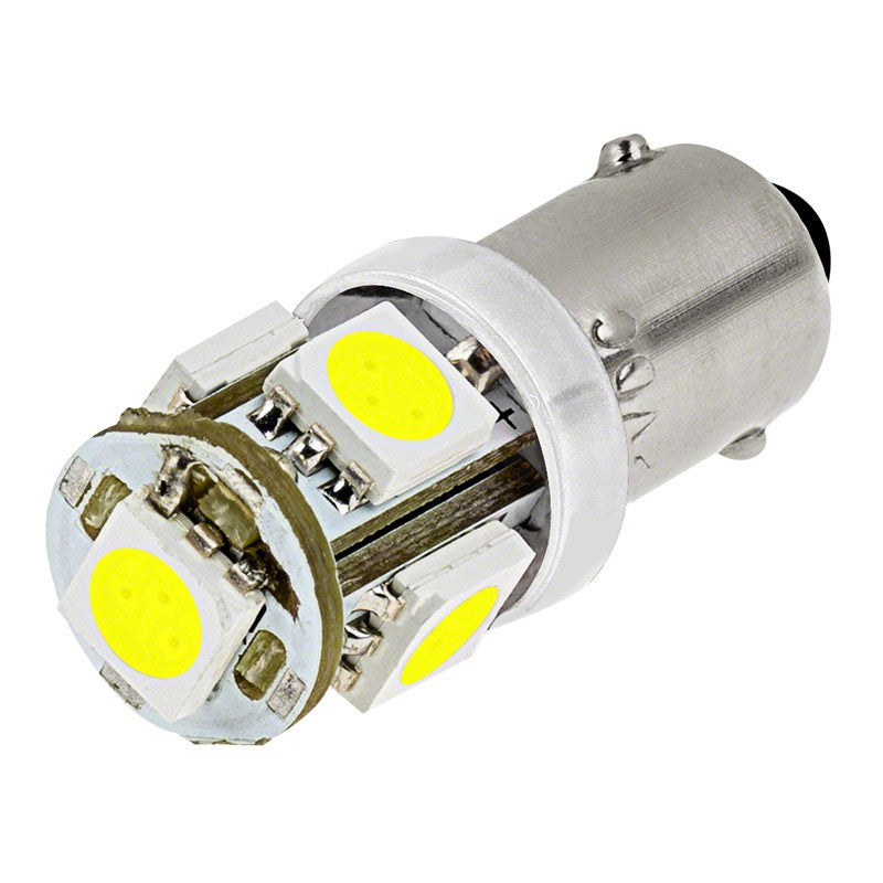SwitchCarParts BA9s LED Bulb - 5 SMD LED Tower - BA9s Bulb