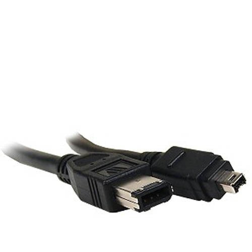 BattleBorn 15 Foot 6-pin to 4-pin Firewire IEEE 1394A Device Cable - 4p/6p