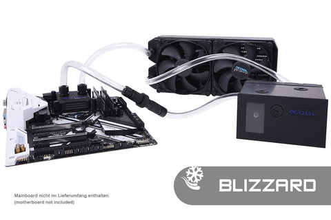 KOI Alphacool Eissturm Blizzard Copper 45 2x140mm - Complete kit
