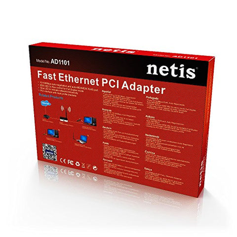 Netis AD-1101 PCI 10/100Mbps Fast Ethernet Adapter
