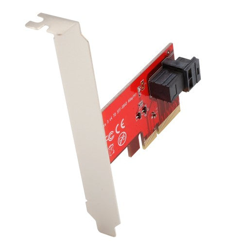 "Syba SI-PEX40119 U.2 - MiniSAS to PCI-e 3.0 x4 2.5"" NVME SFF-8639 Adapter Card"