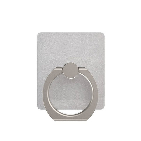 Image of Safe Grip and Kickstand Ring for Smartphones and Tablets with Mount - Silver