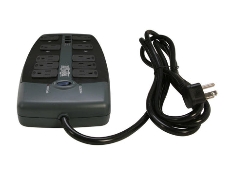 Tripp Lite TLP1008TEL 8 Foot 10 Outlets 2395 Joules Protect It! Surge Suppressor