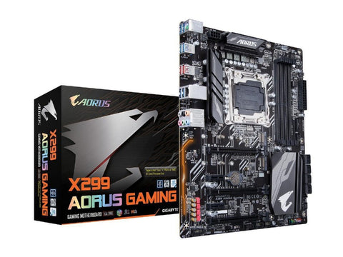 Image of GIGABYTE X299 AORUS Gaming (rev. 1.0) LGA 2066 Intel X299 SATA 6Gb/s USB 3.1 ATX Intel Motherboard