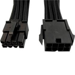 GeLid CA-8P-01 Black 300mm Single Sleeve 8-pin EPS12V Power Cable