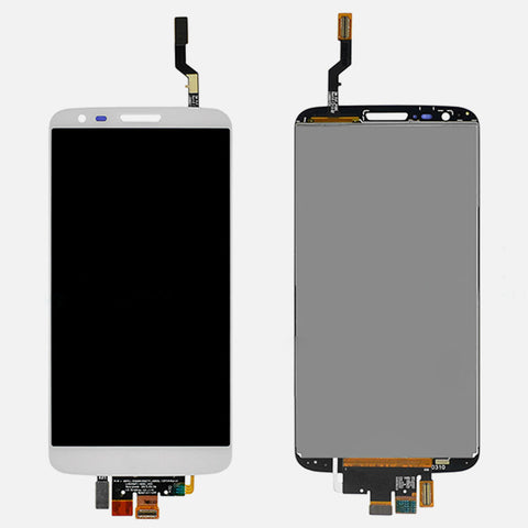 Image of LCD & Digitizer Assembly w/ Frame for LG G2 VS980 Verizon White