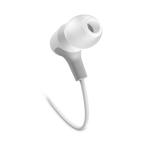 JBL E15 In-Ear Headphones with One-Button Remote and Mic (White)