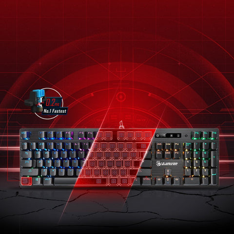 Bloody B820-R Light Strike Mechanical Gaming Keyboard - RGB LED Backlit - LK Blue Switch